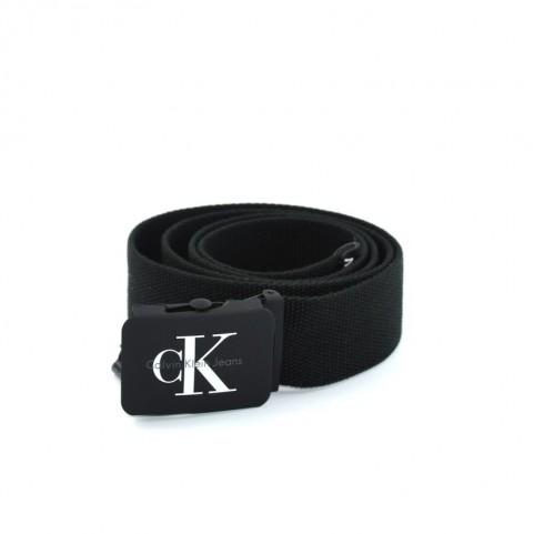 Calvin Klein J Re-Issue K50K503673 black canvas belt