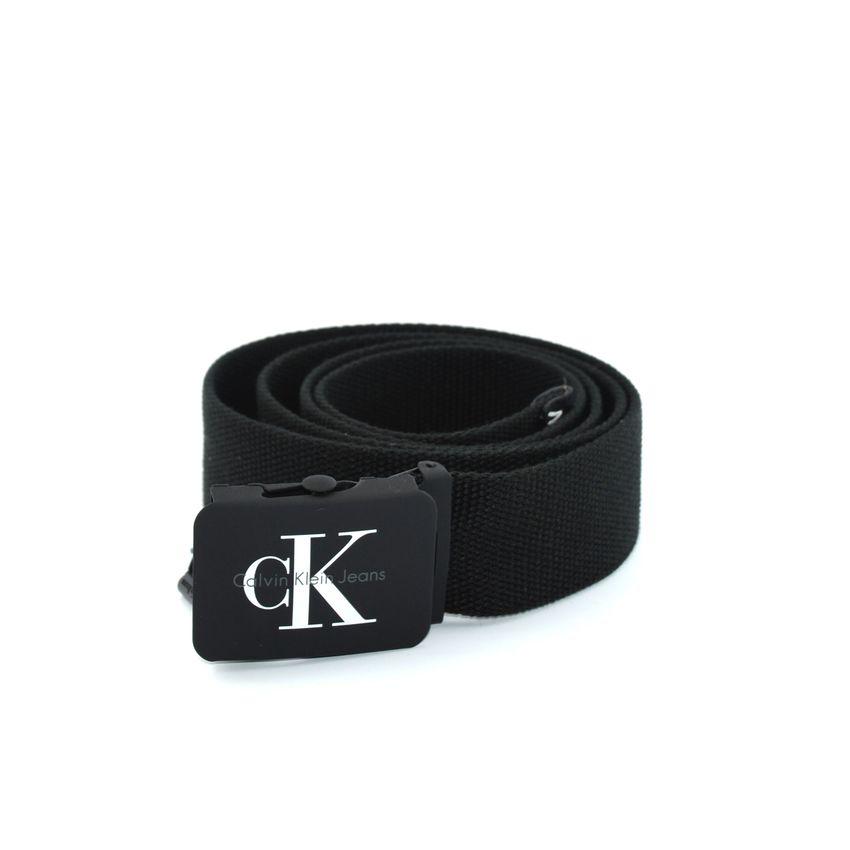 ce645cfa4f8abd Calvin Klein J Re-Issue K50K503673 cintura uomo in canvas nero con logo