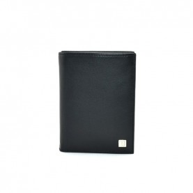 Trussardi jeans 71W00002 black vertical wallet with coin pocket