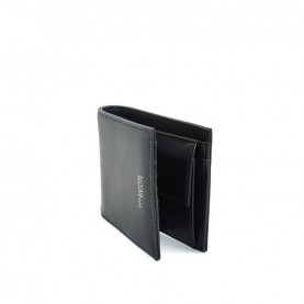 Trussardi jeans 71W00101 black wallet with coin pocket