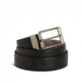 Alviero Martini A485 asphalt geo leather belt
