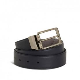 Alviero Martini A485 midnight blue geo leather belt
