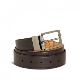 Alviero Martini A485 brown geo leather belt