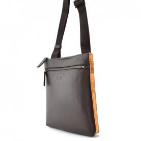 Alviero Martini G544 brown geo leather crossbody bag