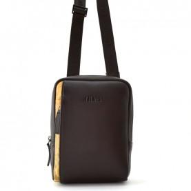 Alviero Martini G542 brown geo leather crossbody bag