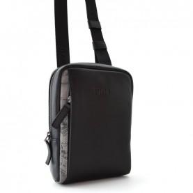 Alviero Martini G542 asphalt geo leather crossbody bag