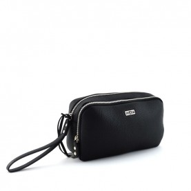 Cult 1149 black pochette with two zipper