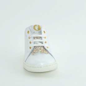 Walkey H60459 baby girl white first steps shoes