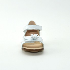 Walkey I60477 baby girl white first steps sandals