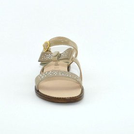 Morelli C54708 sand suede girl sandals with strass