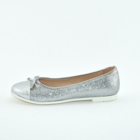 Morelli B54627 glitter silver girl flat shoes