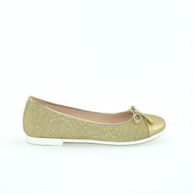 Morelli B54627A glitter platinum girl flat shoes