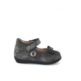 Walkey 60244 baby girl grey flat shoes