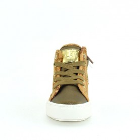 Alviero Martini MM12480 baby girl bronze geo sneakers