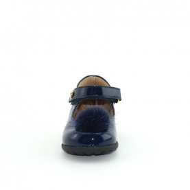 Walkey 60604 baby girl bue flat shoes