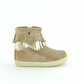 Walkey H60636 baby girl beige first steps ankle boots