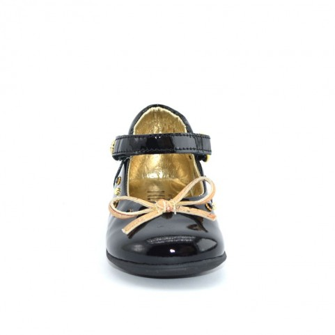 Alviero Martini N0036 baby girl black  dolly shoes
