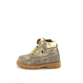 Walkey 40135 baby girl glitter taupe first steps shoes