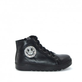 Holala HS0034L black leather sneakers