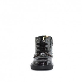 Walkey 40557 baby girl anthracite glitter first steps ankle boots