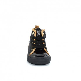Alviero Martini 10345 girl black glitter geo beige sneakers