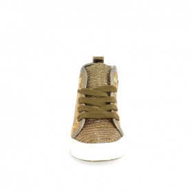 Alviero Martini 10681 girl bronze and geo beige sneakers