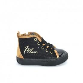 Alviero Martini 10680 girl black glitter geo beige sneakers