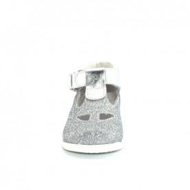 Walkey 00291baby girl silver first steps shoes