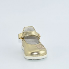 Walkey 00274 baby girl platinum first steps flat shoes