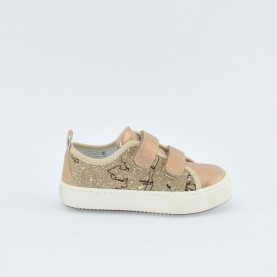 Alviero Martini 10187 gold rose sneakers