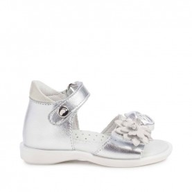 Walkey 40347 baby girl silver first steps sandals