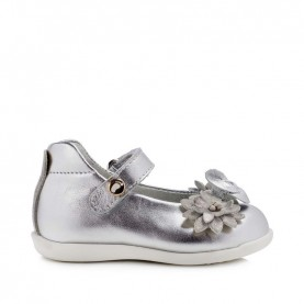 Walkey 40337 baby girl silver first steps shoes