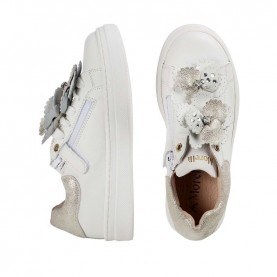 Morelli 50322 white sneakers with flowers