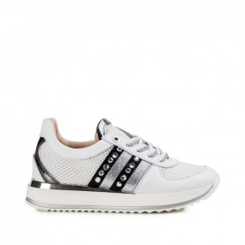 Morelli 50387 white, silver and black sneakers