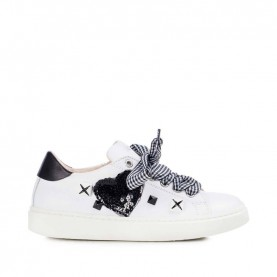 Morelli 50340 white and black sneakers