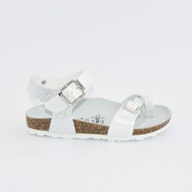 Goldstar 1896A girl silver anatomical flipflop sandal