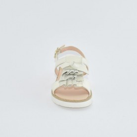 Morelli 00322 white sandals with ruches