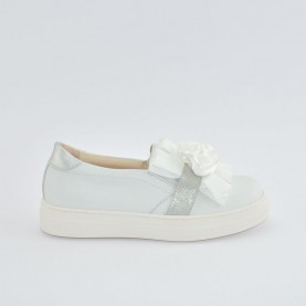Morelli 50314 white slip-on