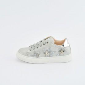Morelli 50344 silver girl sneakers