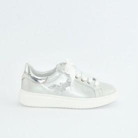 Patrizia Pepe PPJ18.30 silver sneakers