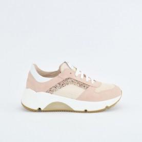 Morelli 50783 pink glitter sneakers