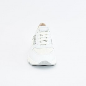 Morelli 50780 white and silver sneakers