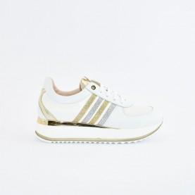Morelli 50763 white, silver and platinum sneakers