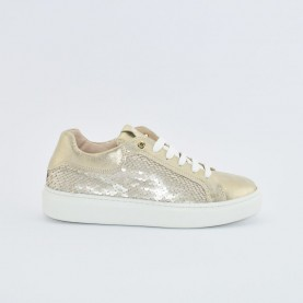Morelli 50744 platinum paillettes sneakers
