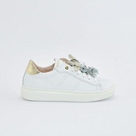 Morelli 50730 white, silver and platinum sneakers