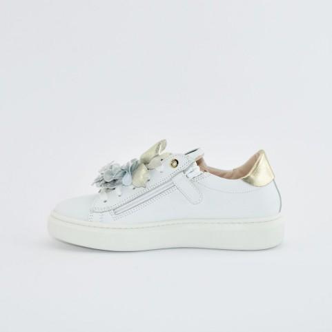 Morelli 50730 white, silver and platinum sneakers