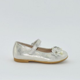 Morelli H54175 girl flat shoes silver