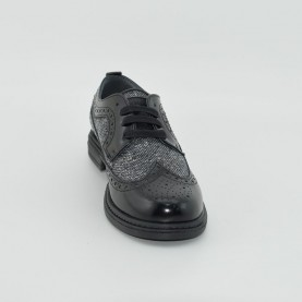 Morelli E53555 boy lace ups black and grey
