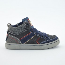 Wrangler WJ16242B blue boys high sneaker shoes