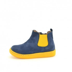 Walkey 60595 baby boy blue and yellow shoes